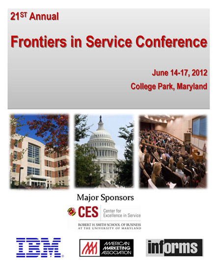 Came en la Frontiers in Service Conference en Maryland University