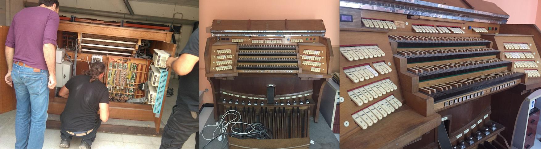 Antiguo teclado del organo de la Catedral de Sevilla